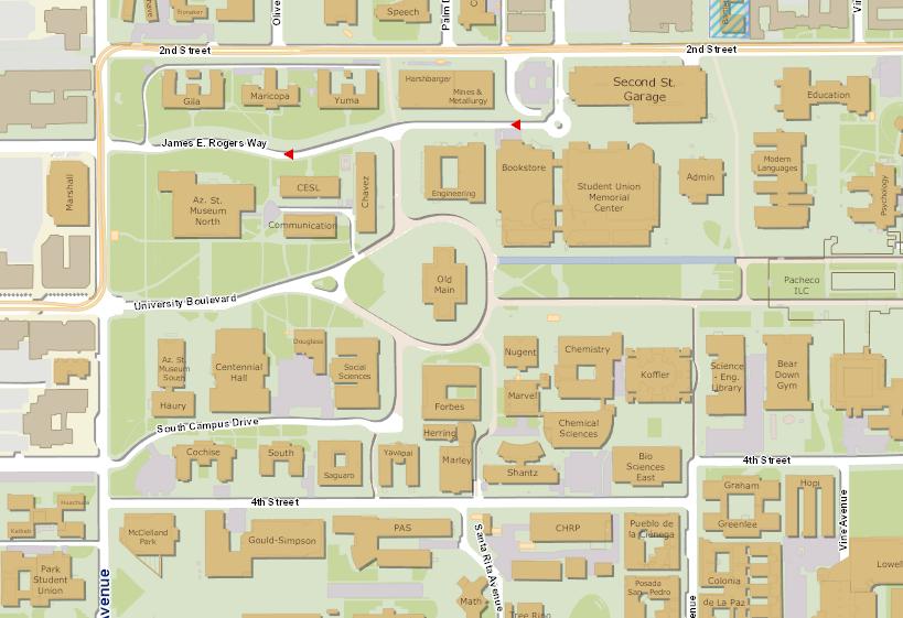 EGIS The University Of Arizona - Arizona map