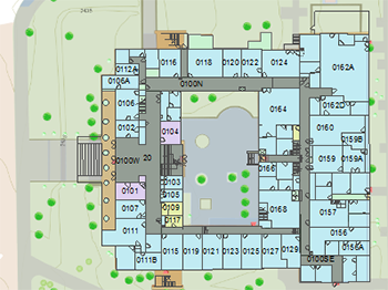 photo relating to Printable Arizona Map named The Faculty of Arizona Campus Maps