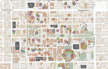 u of az campus map The University Of Arizona Campus Maps